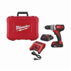 Milwaukee® 2601-22 Compact Cordless Drill, 1/2 in Dia x 7-3/4 in OAL Metal Chuck, 425 in-lb Torque, 18 VDC