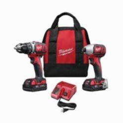 Milwaukee® M18™ 2691-22 2-Tool Cordless Combination Kit, 6 Pieces, Red