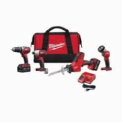 Milwaukee® M18™ 2695-24 4-Tool Cordless Combination Kit, 8 Pieces, Red