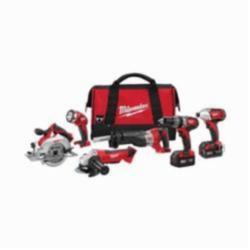 Milwaukee® M18™ Cordless Combination Kit, 6 Pieces, Red/Black (Kit)