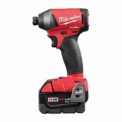 Milwaukee® M18™ Cordless Impact Driver Kit, 1/4 in Hex Drive, 0 - 3700 ipm, 1800 in-lb Torque, 18 V (Kit)