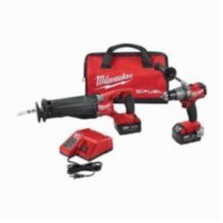 Milwaukee® M18 FUEL™ 2-Tool Cordless Combination Kit, 10 Pieces, 18 Volt, Li-Ion, Red/Black (Kit)