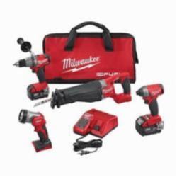 Milwaukee® M18 FUEL™ 4-Tool Cordless Combination Kit, 14 Pieces, 18 Volt, Red/Black (Kit)