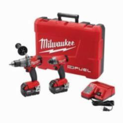 Milwaukee® M18 FUEL™ 2-Tool Cordless Combination Kit, 11 Pieces, 18 Volt, Li-Ion, Red/Black (Kit)