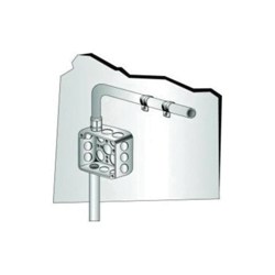 Minerallac® Traditional H92 1-Hole Heavy Duty Jiffy Clip, For Use With 2-1/2 in EMT/Rigid/IMC Conduit