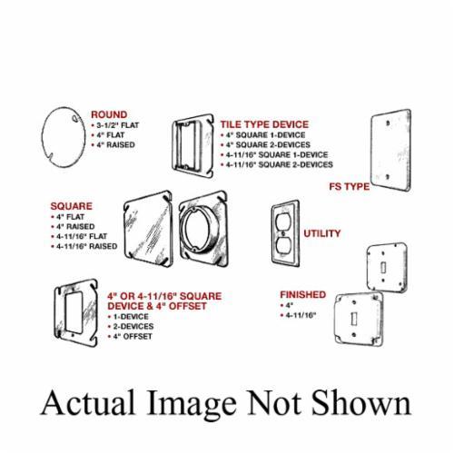 Mulberry 11533 Gfci Receptacle Square Box Cover 4 11 16 In L X 4 11