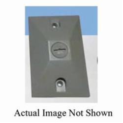 Mulberry 30351 Electric Box Cover, 4 in L x 4 in W, Die Cast Zinc