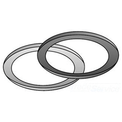 O-Z/Gedney 4QG-50 Type 4Q-G Sealing Ring Assembly With Neoprene Gasket, 1/2 in, Steel, Zinc Plated