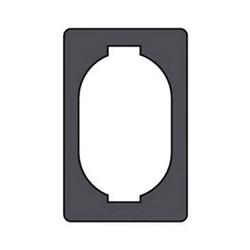 O-Z/Gedney FS-1-SG Sealing Gasket, For Use With FS-1-GFCA, FS-1-WDCA, FS-1-WPCA, FS-1-WRCA, FS-1-WSCA Covers