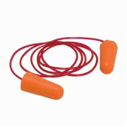 PIPR 265-100C CORDED EAR PLUGS, NRR 32 DB, SOFT POLYURETHANE FOAM, ORANGE, 100