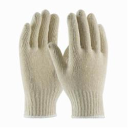 PIP® 35-C104 Standard Weight Knit Wrist Gloves, L, Natural, Seamless, Cotton/Polyester