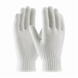 PIP® 35-CB110 General Purpose Medium Weight Protective Gloves, L, Bleached White, Seamless, Cotton/Polyester Blend