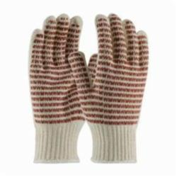 PIP® 38-720 Heavy Weight Knit Gloves, L, Nitrile Palm, Natural/Rust, Seamless Knit, Cotton/Polyester