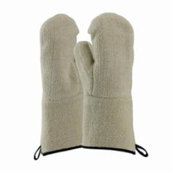 PIP® 42-853 Double Insulated Loop-Out Mitt Gloves, Universal, Natural, Loop-Out, Cotton/Terrycloth