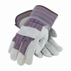 PIPR 85-7500/L SINGLE PALM SPLIT LEATHER WORK GLOVE LARGE SAFETY CUFF(PRICED PER PAIR / SOLD PER DOZEN)