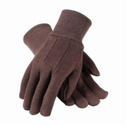 PIP® 95-809 Heavy Weight Protective Gloves, Ladies, Brown, Clute Cut, Straight Thumb, Cotton/Jersey