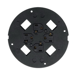 PREMISE WIRING SystemOne™ S1SP4X430 Flush Fire Rated Poke Throughs Sub Plate, 4 in Core Hole in Concrete Floor, Black