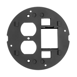 PREMISE WIRING SystemOne™ S1SPDU2IM Flush Fire Rated Poke Throughs Sub Plate, 4 in Core Hole in Concrete Floor, Black