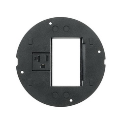 PREMISE WIRING SystemOne™ S1SPORT Flush Fire Rated Poke Throughs Sub Plate, For Use With Ortronics® Series II Devices