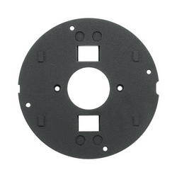 PREMISE WIRING SystemOne™ S1SPTL Flush Fire Rated Poke Throughs Sub Plate, 4 in Core Hole in Concrete Floor, Black