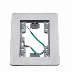PREMISE WIRING SA3083W Rectangular Floor Flange, For Use With Flush Floor Box, Aluminum