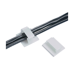 Panduit® BEC75-A-L20 Bevel Entry Wire Clip, 3/4 in Cable, 1.09 lb Load, Rubber Adhesive Backed Mount, Nylon