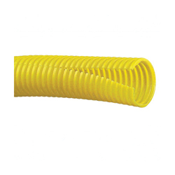 Panduit® CLT50F-C4 Slit Wall Corrugated Loom Tubing, 0.51 in Inside Dia x 100 ft L x 0.007 to 0.02 in THK, Yellow