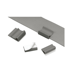 Panduit® FCC-A-D8 Flat Cable Clip, 1.09 in Cable, 0.5 lb Load, Rubber Adhesive Backed Mount, PVC