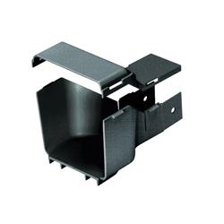 Panduit® FiberRunner® FRRF4FD2BL Reducer Fitting, 7.7 in L x 5.4 in W x 4.7 in H, ABS, Black