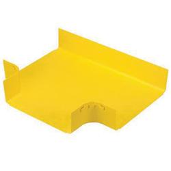 Panduit® FiberRunner® FRT12X4YL Horizontal Tee Fitting, 90 deg Bend Angle, For Use With 12 x 4 FiberRunner® Fitting