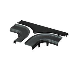 Panduit® FRTSC4BL Split Horizontal Tee Cover, 12.96 in W x 2.1 in H, ABS, Black