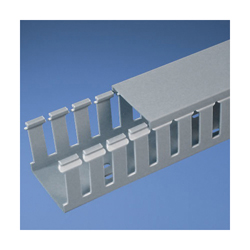 Panduit® G1X2LG6 Type G Slotted Wall Wiring Duct, 0.31 in Wide Finger Slot, 1 in W x 2 in D, PVC