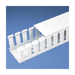 Panduit® G2X4WH6 Type G Slotted Wall Wiring Duct, 0.31 in Wide Finger Slot, 2 in W x 3 in D, PVC