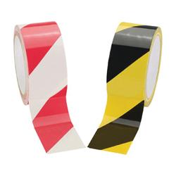 Hazard Tape, Adhesive, 2 x 18Yd, Black/