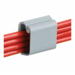 Panduit® LC3-A-C8 Latching Wire Clip, 0.2 in Cable, 0.28 lb Load, Rubber Adhesive Backed Mount, PVC