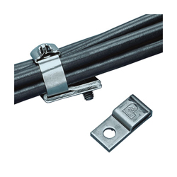 Panduit® MTM1H-C 1-Hole Cable Tie Mount, 2-Way, Screw Mount, 0.38 in W Max, 304 Stainless Steel, Natural