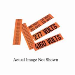 Panduit® PCV-24VDCBY Pre-Printed Style B Voltage Marker, 4-1/2 in L Label, 1.13 in W Label, Black Legend, Vinyl