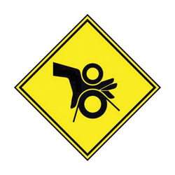 PAND PPS0202B493 PINCH POINT SYMBOL