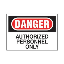 PAND PRS1014D120 14X10 DANGER SGN