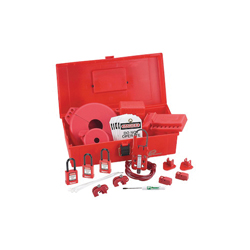 Maintenance Lockout Kit with components,