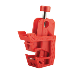 Panduit® PSL-PCBNT Circuit Breaker Lockout, Red, Nylon/Stainless Steel