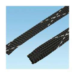 Panduit® Pan-Wrap™ SE50PFR-CR0 Expandable Braided Sleeve, 1/2 in Dia x 100 ft L, Polyethylene Terephthalate, Black
