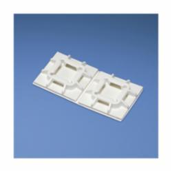 Panduit® SGABM25-A-C Cable Tie Mount, 4-Way, Adhesive Mount, 0.61 in W Max, Nylon, White