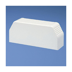 Panduit® Pan-Way® T70ECWH Power Rated End Cap Fitting, PVC, White