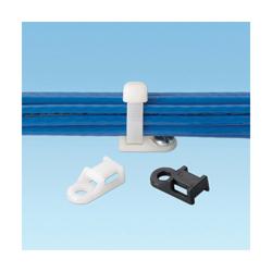 Panduit® TA1S8-C Cable Tie Mount, 4-Way, Screw Mount, 4.8 mm W Max, Nylon, Natural