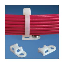 Panduit® TA1S8-M30 Heat Stabilized Cable Tie Mount, 4-Way, Screw Mount, 4.8 mm W Max, Nylon, Black
