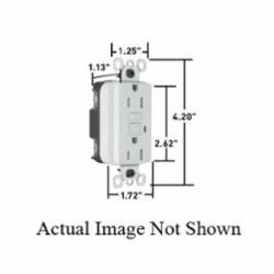 P&S 2095-TRWRGRY GFCI RECEP TR WR 20A 125V GRY