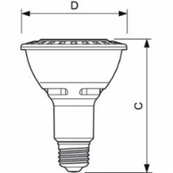 PHIL 12.5PAR30L/F25 3000 DIM SO 120V 12.5W 3000K 25 DEGREE BEAM PAR30 LONG DIMMABLE LED LAMP, MEDIUM
