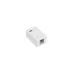 QuickPort® 41089-1WP 1-Port Outlet Box, Snap-In Module, For Use With Individual QuickPort Snap-In Connector Modules
