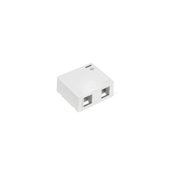 QuickPort® 41089-2WP 2-Port Outlet Box, Snap-In Module, For Use With Individual QuickPort Snap-In Connector Modules